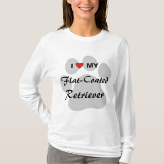 I Love (Heart) My Flat-Coated Retriever T-Shirt