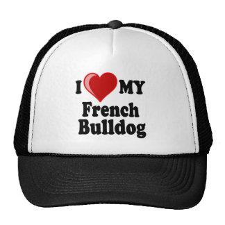 I Love (Heart) My French Bulldog Dog Cap