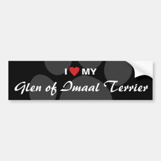 I Love (Heart) My Glen of Imaal Terrier Bumper Stickers