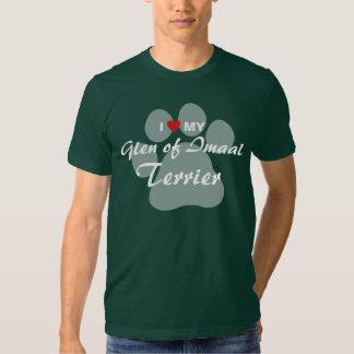 I Love (Heart) My Glen of Imaal Terrier Pawprint T-shirts