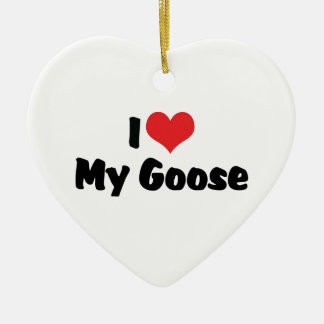 I Love Heart My Goose - Bird Lover Ceramic Heart Decoration
