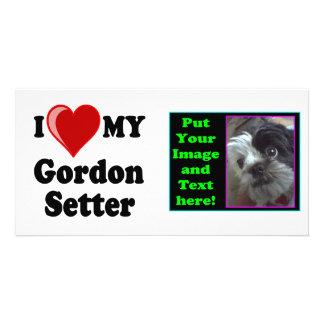 I Love Heart My Gordon Setter Dog Photo Card