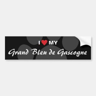 I Love Heart My Grand Bleu de Gascogne Bumper Sticker