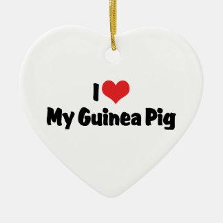 I love Heart My Guinea Pig Ceramic Heart Decoration
