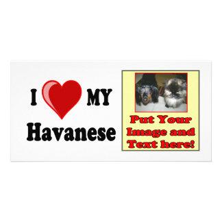 I Love (Heart) My Havanese Dog Photo Card