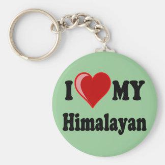 I Love (Heart) My Himalayan Cat Key Ring