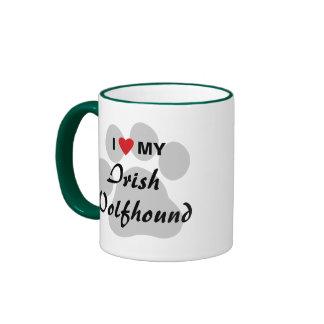 I Love (Heart) My Irish Wolfhound Ringer Mug