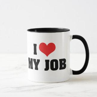 I Love Heart My Job Mug