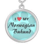 I Love (Heart) My Norwegian Buhund Pendant