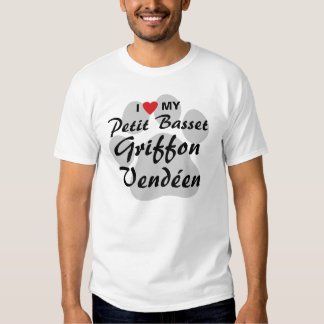 I Love (Heart) My Petit Basset Griffon Vendéen Tee Shirts