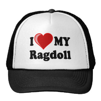 I Love (Heart) My Ragdoll Cat Cap