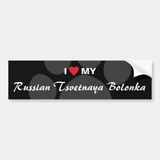 I Love (Heart) My Russian Tsvetnaya Bolonka Bumper Sticker