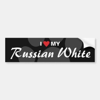 I Love (Heart) My Russian White Bumper Sticker