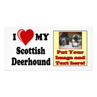 I Love (Heart) My Scottish Deerhound Dog Picture Card