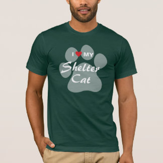 I Love (Heart) My Shelter Cat T-Shirt