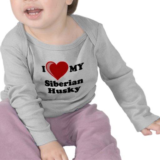 I Love (Heart) My Siberian Husky Dog T-shirt