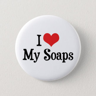 I Love Heart My Soaps - Soap Opera Lover 6 Cm Round Badge