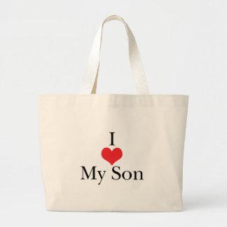 I Love Heart My Son Tote Bag