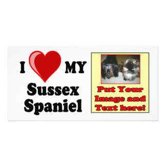 I Love (Heart) My Sussex Spaniel Dog Photo Greeting Card