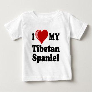 I Love (Heart) My Tibetan Spaniel Dog Baby T-Shirt