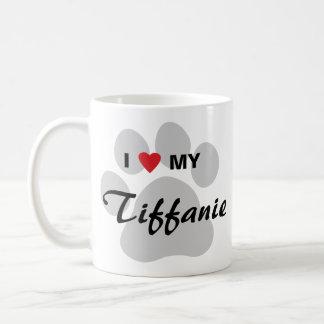 I Love (Heart) My Tiffanie Pawprint Coffee Mug