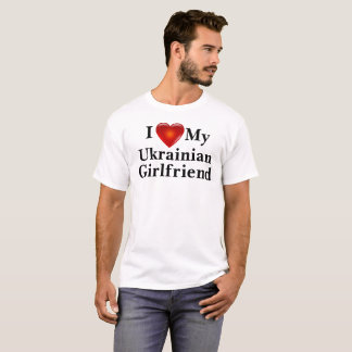 I Love Heart My Ukrainian Girlfriend Shirt