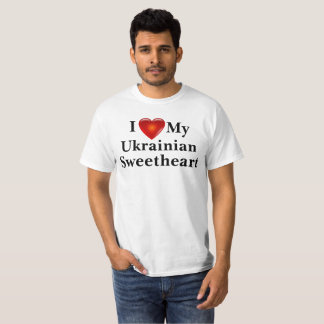 I Love Heart My Ukrainian Sweetheart Shirt