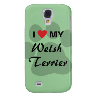 I Love (Heart) My Welsh Terrier Samsung Galaxy S4 Cover