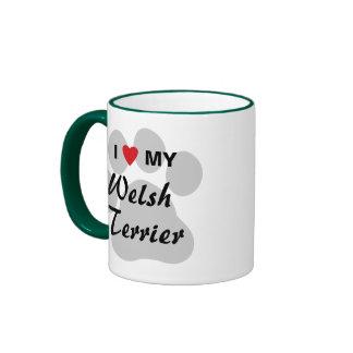 I Love (Heart) My Welsh Terrier Ringer Mug