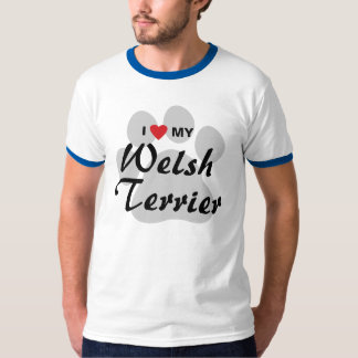 I Love (Heart) My Welsh Terrier Shirts