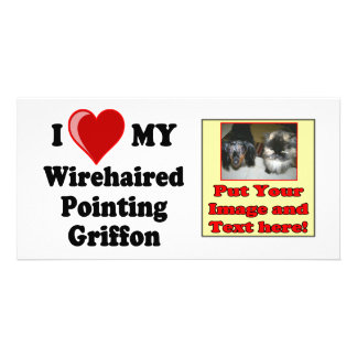 I Love (Heart) My Wirehaired Pointing Griffon Dog Picture Card