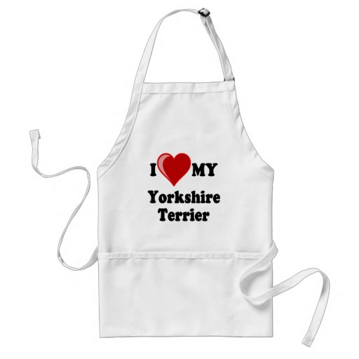 I Love (Heart) My Yorkshire Terrier Dog Aprons