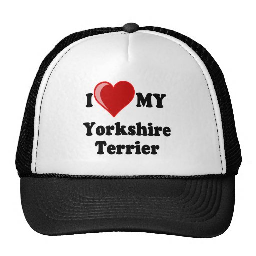 I Love (Heart) My Yorkshire Terrier Dog Mesh Hat