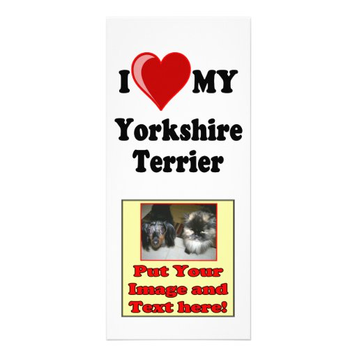I Love (Heart) My Yorkshire Terrier Dog Rack Card