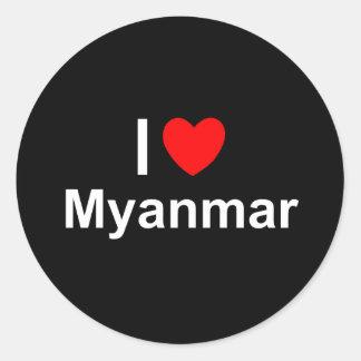 I Love Heart Myanmar Classic Round Sticker