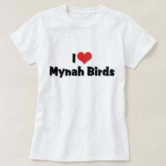I Love Heart Mynah Birds - Bird Lovers T-Shirt