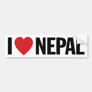 "I Love Heart Nepal 11"" 28cm Vinyl Decal Bumper Sticker"