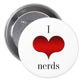 I Love Heart Nerds Button
