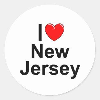 I Love (Heart) New Jersey Classic Round Sticker