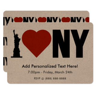I Love Heart New York Card