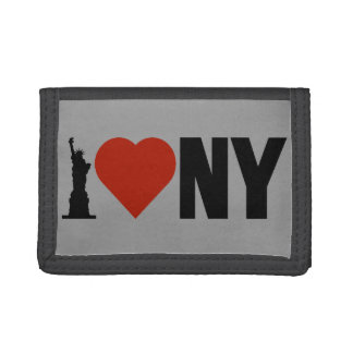 I Love Heart New York Trifold Wallets