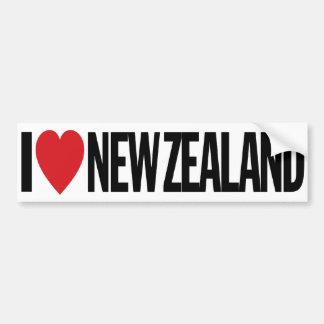 "I Love Heart New Zealand 11"" 28cm Vinyl Decal"