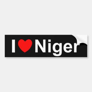 I Love Heart Niger Bumper Sticker