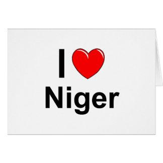 I Love Heart Niger Card