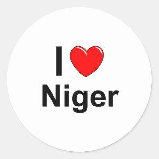 I Love Heart Niger Classic Round Sticker