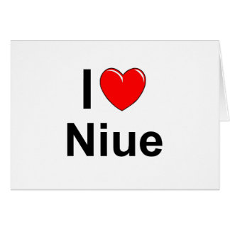 I Love Heart Niue Card
