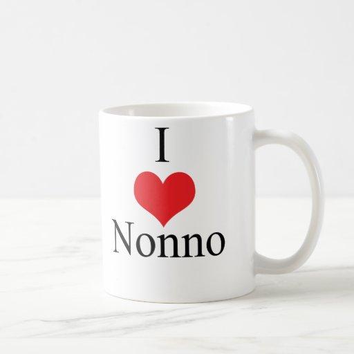 I Love (Heart) Nonno Coffee Mugs