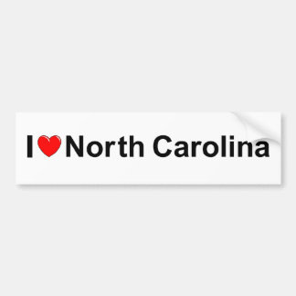 I Love (Heart) North Carolina Bumper Sticker