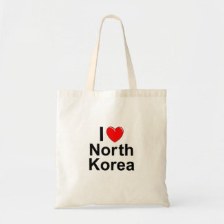 I Love Heart North Korea Tote Bag