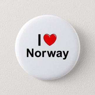 I Love Heart Norway 6 Cm Round Badge